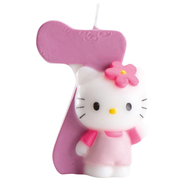 Hello Kitty Kaars Nummer 7