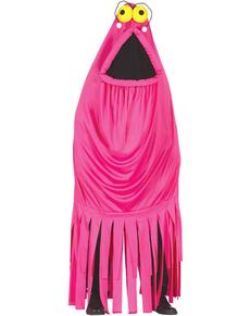 Kostuum roze zeemonster voor vrouwen