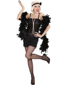 Kostuum cabaret de jaren 20 zwart voor vrouwen