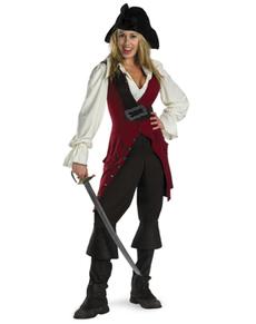 Kostuum Elizabeth Swann Pirates of the Caribbean deluxe voor vrouwen