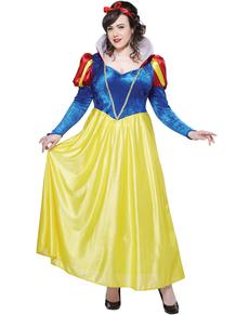 Kostuum Sneeuwwitje voor vrouwen grote maat