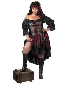 Kostuum piraat voor vrouwen grote maat
