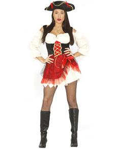 Kostuum elgante piraat voor vrouwen