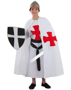 Middeleeuwse tempelier kostuum voor jongens