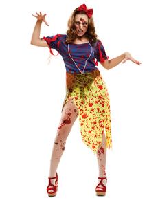 Zombie sneeuwprinses kostuum voor vrouwen