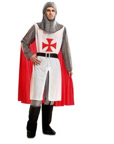 Kostuum tempelridder voor mannen