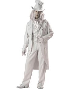 Kostuum wit spook voor mannen